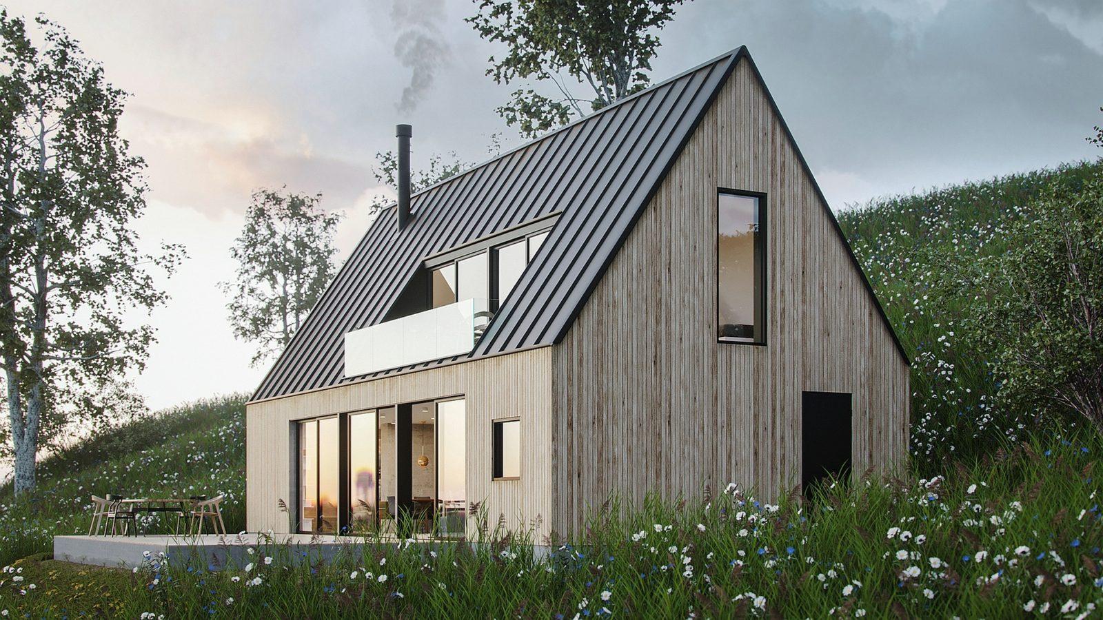 Летний дом на склоне